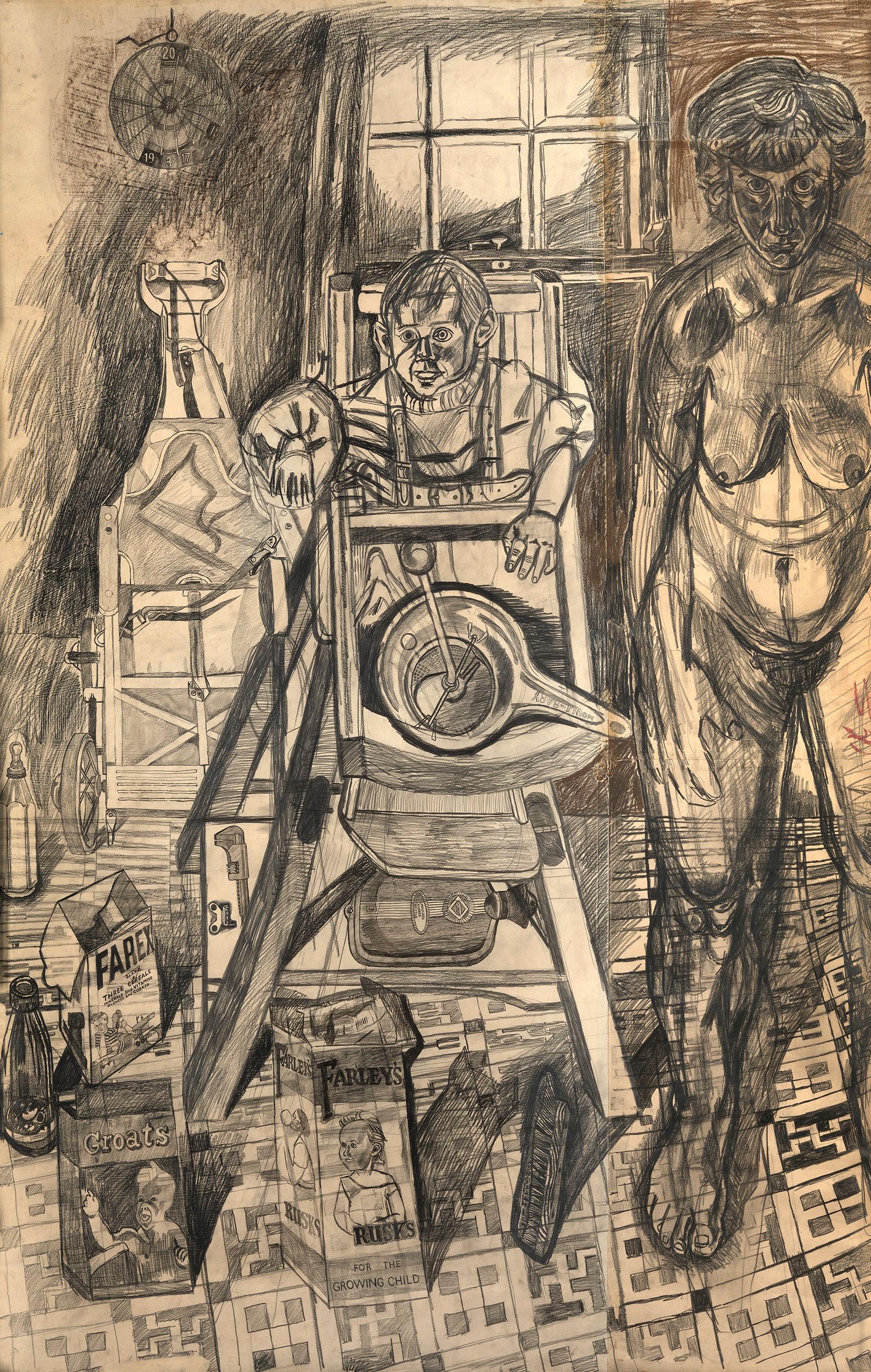 John Bratby Drawings Full Screen