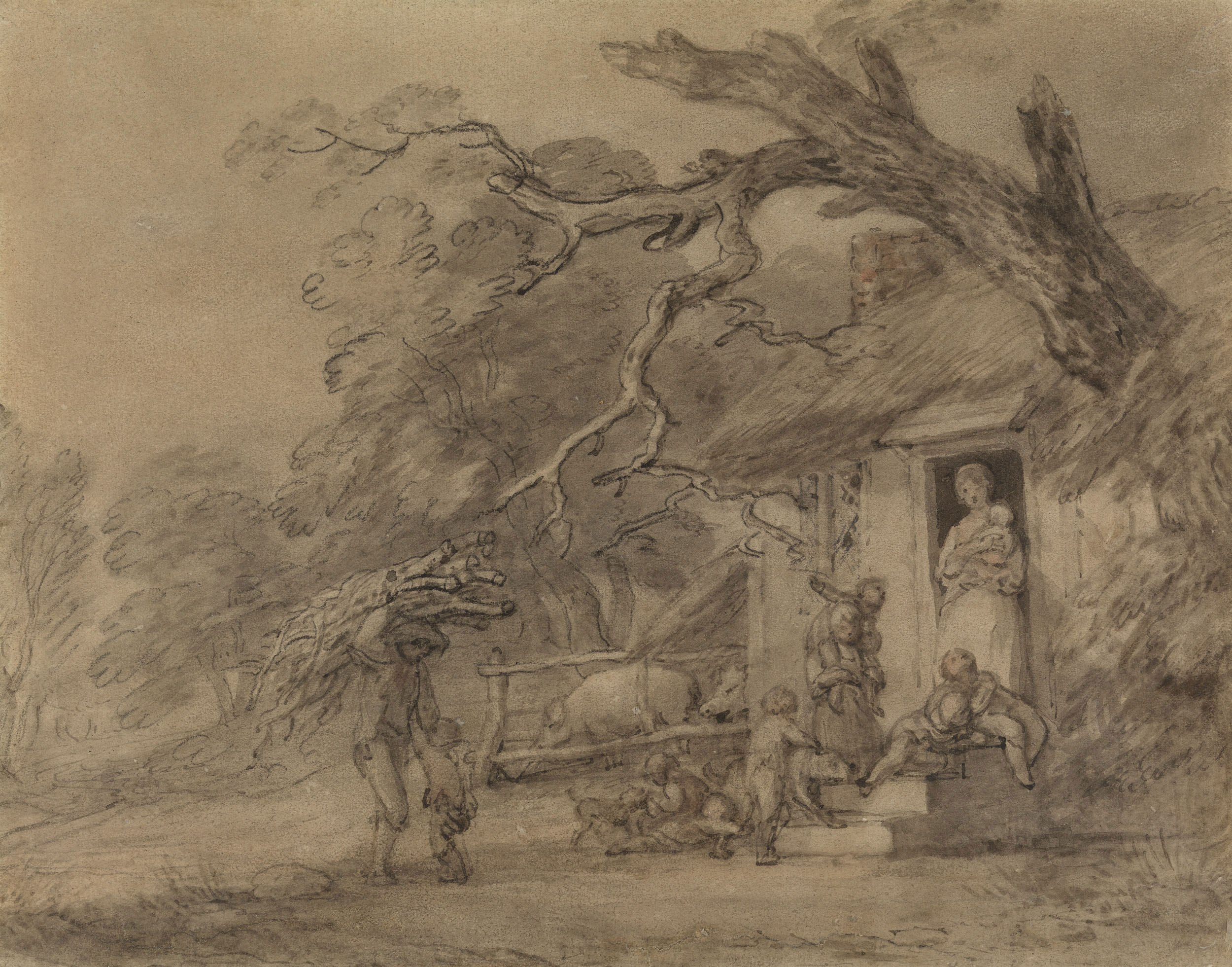 Thomas Gainsborough A Family Outside A Cottage Door & Gainsborough Door - Sanfranciscolife
