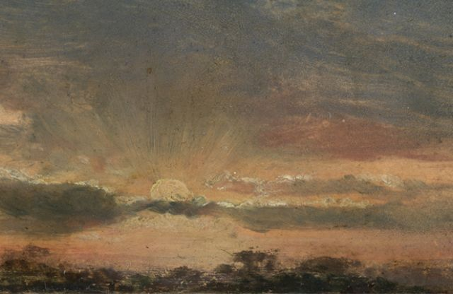 John Constable: Sunset: a stormy evening