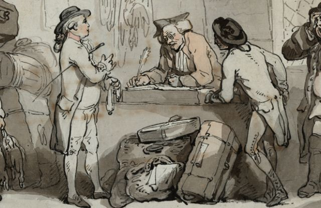Thomas Rowlandson: The Coach Booking Office